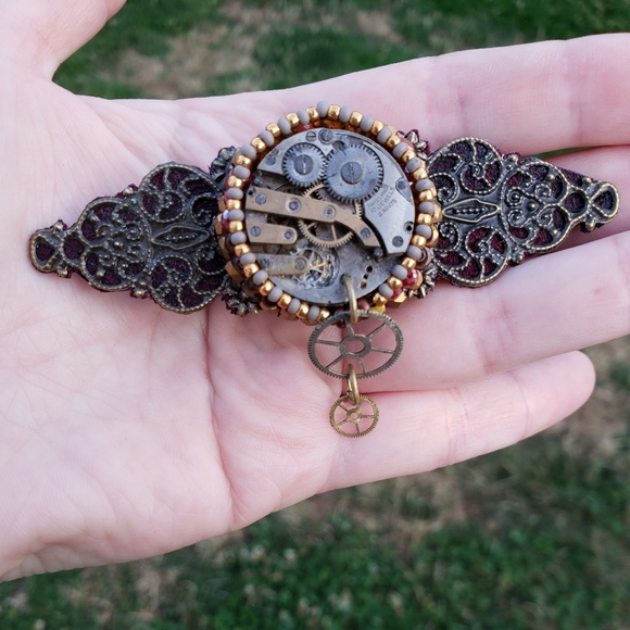 Made By Me Steampunk Victorian Hair Jewelry Clips